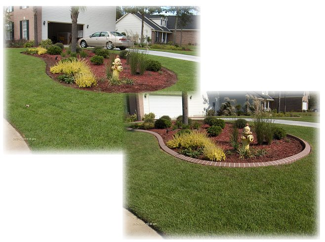 Southern landscape curbing and resurfacing - Garden design before and after ...