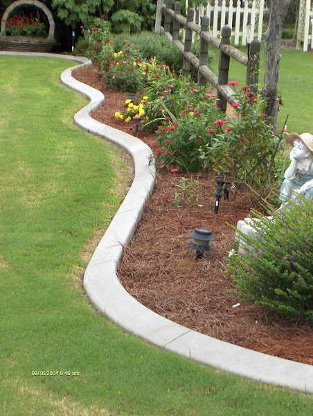 Southern landscape curbing and resurfacing for Decorative garden edging ideas